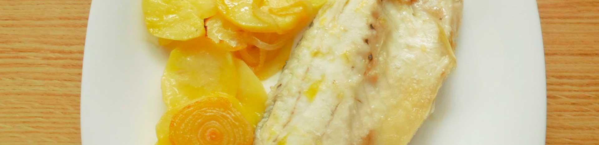 Lubina al horno con patatas 1